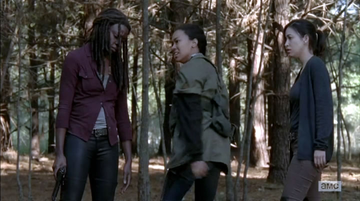 Michonne, Sasha and Rosita having a moment