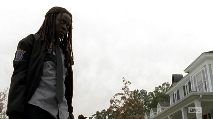 Michonne doing what needs to be done