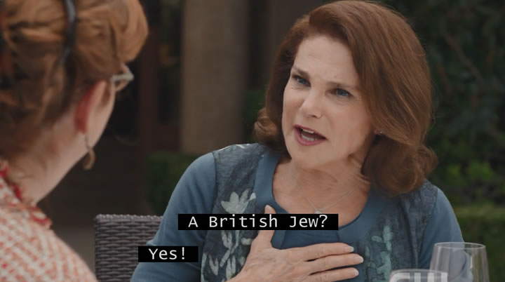 For some reason, Rebecca's mother thinks Paula is just fabulous for being British and Jewish!